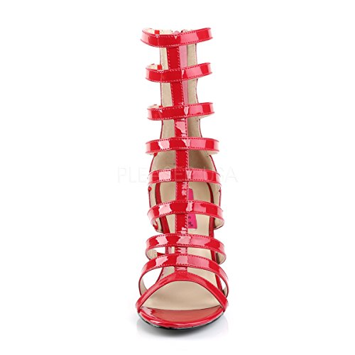 Red Riemchen Big Womens Dream 438 Booties Higher Patent Pleaser Heels Pink Size Red Patent Label aZwaUOqxH