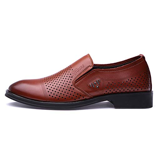 Informal de Color Ocasional Negro para One EU tamaño Hombre Moda Oxford Transpirable de Shoes Oxford Foot Jusheng Pedal Moda Formal Zapatos Marrón 39 qTwE7I