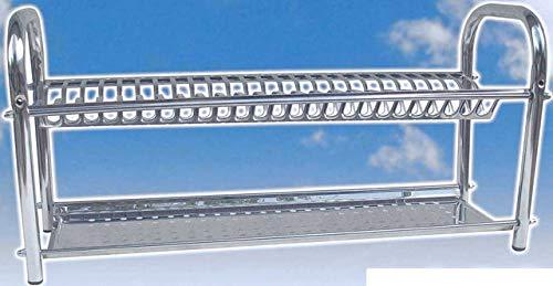 50 cm fabricado en Italia Escurreplatos de mesa en acero inoxidable