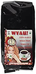 WYAU! Gourmet Fair Trade USDA Organic Whole Bean Coffee - 100% Shade Grown Arabica Beans From Sumatra & Central America - The Perfect Wake Up Call Morning Coffee For That Extra Shot Of Caffeine