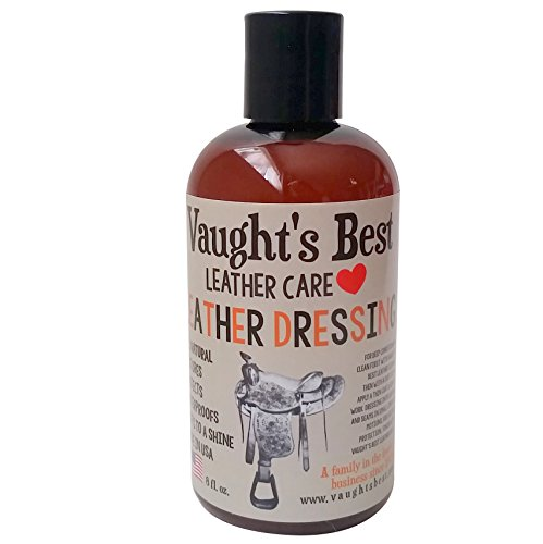 Vaught's Best Leather Dressing 8oz, Family Leather Business since 1926, Great for Waterproofing, Conditioning Apparel, Furniture, Auto Interiors, Shoes, Bags, Accessories. Non-Toxic, Made in USA