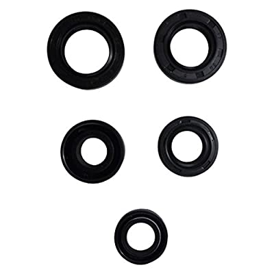 Engine Oil Seal Kit Set 5 Seals for 50cc 70cc 90cc 110cc 125cc ATV Quad Dirt Bike Go Kart Honda CT70 Trail S65 Sport C70 CL70 SL70 Motosport 70 XL70 Z50A Mini Trail: Automotive
