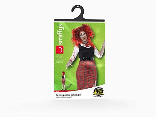 Smiffy's Women's Plus-Size Curves Zombie Schoolgirl