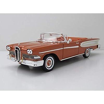 Road Signature 1958 Edsel Citation Convertible Brown 1/18 Diecast Model Car: Toys & Games