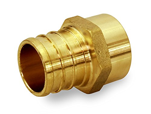 Everflow PSMA3434-NL 3/4 Inch x 3/4 Inch Lead Free Brass Adapter PEX X MALE SWEAT, Brass Construction, Compatible w/ PEX Piping, Low-Cost plumbing Connection, Durability & Reliability, Easy to Install - Brass Sweat