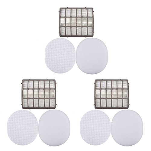 KEEPOW 3 Pack Foam & Felt Filter Replacement for Shark Navigator Professional NV70, NV80, UV420 Compare Part # XFF80 & XHF80 by KEEPOW