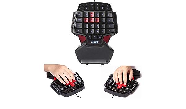 fancartuk - Teclado Gaming con una Mano - Teclado ...