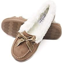 Jessica Simpson Women's Micro Suede Moccasin with Velvet Bow