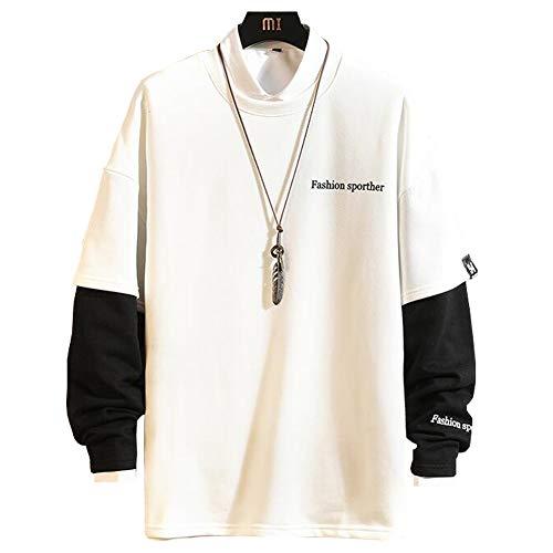 Veravantベラバント メンズパーカー 長袖 大きいサイズ 切り替え ゆったり ファッション 秋