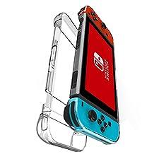 Kungber Anti-Scratch Hard Back Case Cover for Nintendo Switch Transparent Ergonomic Accessories Skin 2017(clear)