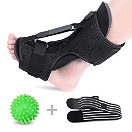 SGODDE Plantar Fasciitis Night Splint Drop Foot Orthotic Brace, Improved Dorsal Night Splint for Effective Relief from Plantar Fasciitis, Achilles Tendoniti with Hard Spiky Massage Ball