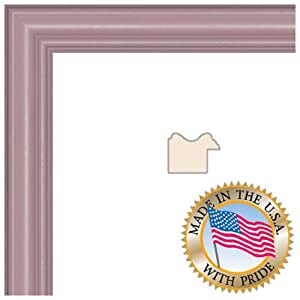 ArtToFrames 20x28 inch Pink Stain on Red Leaf Maple Wood Picture Frame, WOM0066-60823-YPNK-20x28