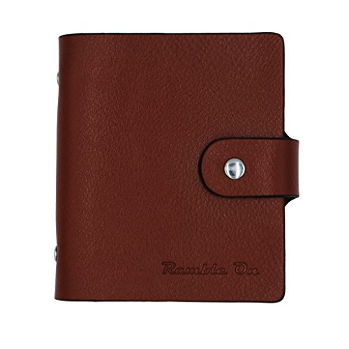 Ramble On Genuine Leather Business Card / Credit Card Holder - Compact Storage - Holds up to 80 Business Cards or 40 Credit Cards - for All your Important Cards - Comes in a Great Gift Box (Brown) Photo #3