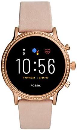 Fossil Smartwatch Pantalla táctil para Mujer de Connected con Correa en Acero Inoxidable