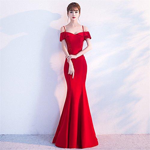 Para Imperio Rosso Drasawee Mujer Corte Vestido F0wcnqPz