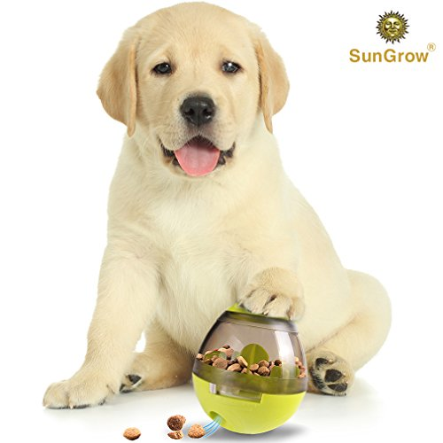 Interactive IQ Treat Ball Toy - Fun Slow Feeder - Food Dispenser - Prevents Obesity, Improves Digestion - Stronger Dog-Pet Parent Relationship - Durable, Easy to Clean Physical & Mental Stimulation (Toy Ball Feeder)
