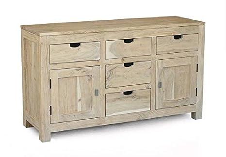 Legno Naturale Bianco : In legno massello mobili acacia credenza legno massello mobili