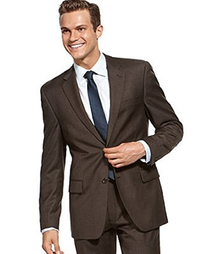 Alfani Red Slim Fit Dark Brown Wool New Men's Suit Separates Blazer (46 Long) from Alfani