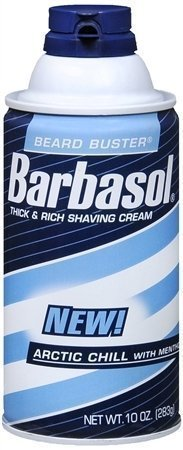 Barbasol Thick and Rich Shave Cream Arctic Chill with Mentho