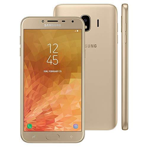 Samsung Galaxy J4 J400M/DS 16GB 2GB RAM 5.5 4G LTE GSM Dual SIM Factory Unlocked International Version, No Warranty (Gold)