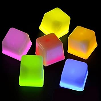 glow cube 12 pieces color led ice cubes shape lights up toy for