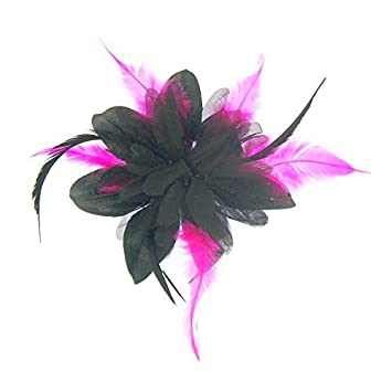 d640d38f0d7b6 Striking fascinator in black and cerise pink feathers for special events   Amazon.co.uk  Beauty