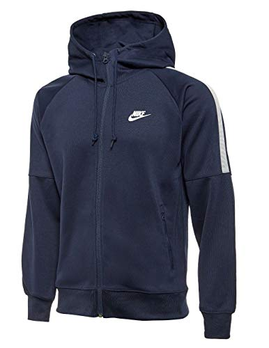 NIKE Mens Track Top Hoody Tribute Tracksuit Jacket Hooded Sports Jacket Black 708097 010 (Small)