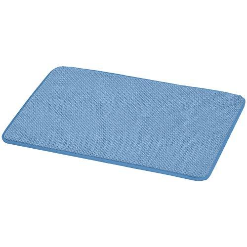 AmazonBasics Textured Memory Foam Bath Mat – Small, Blue
