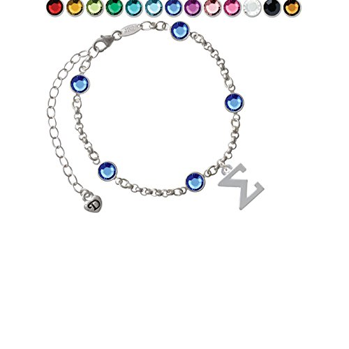 Custom Greek Letters - Large Greek Letter - Sigma - Custom Crystal Color Fiona Charm Bracelet