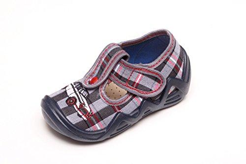 Yaro - Zapatillas de estar por casa de algodón para niño gris