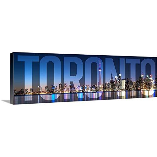 Toronto, Transparent Overlay Canvas Wall Art Print, 60
