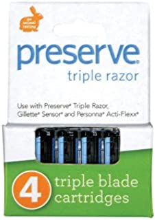 product image for Preserve Razor Blades Triple Refil 4 Pk