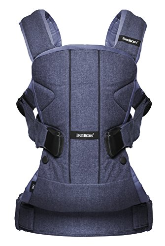 BABYBJORN Baby Carrier One - Denim Blue/Blue, Cotton Mix (Denim Mix)
