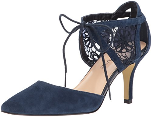 Bella Vita Women's Demi Dress Pump, Navy Kid Suede, 7 N US