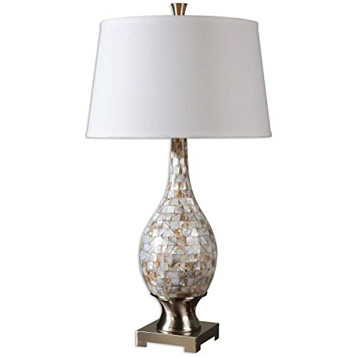 - Uttermost 26491 Madre Mosaic Tile Lamp, White