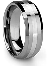 king will classic mens 8mm tungsten ring