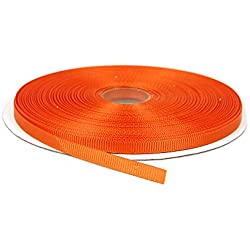 "¼"" Orange Solid Grosgrain Ribbon, 50 Yards"