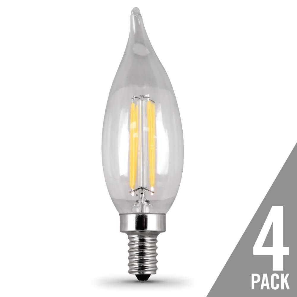 FEIT ELECTRIC BPCFC40//827//LED//4 Bulb
