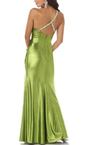 Perlen Abendkleid Schulter Riemen Rueckseite Sexy Detail BRIDE GEORGE Eingriff der Seitliche Grün Ein auf Rgqw04pxt