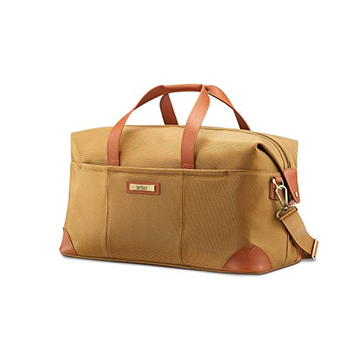 Hartmann Leather Duffel - Hartmann Ratio Classic Deluxe 2 Weekend Duffel, Safari, One Size