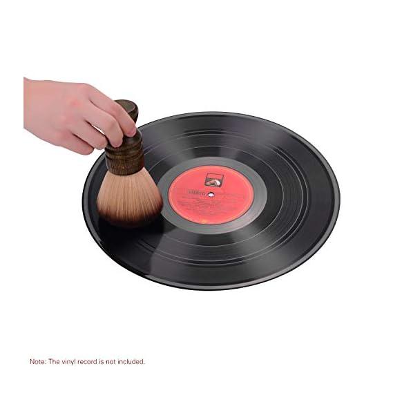 Audio Turntable LP Vinyl Record Cleaning Brush Soft Anti-Static Cleaner CD Album Cartridge Dust Clean Tool
