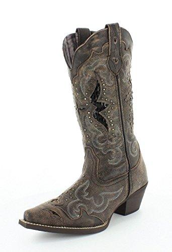 Laredo Women's Lucretia Studded Snake Inlay Cowgirl Boot ...