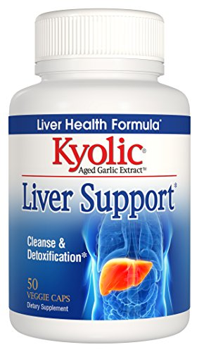 Kyolic Aged Garlic Extract Liver Support Cleanse & Detoxification, 50 Veggie Caps