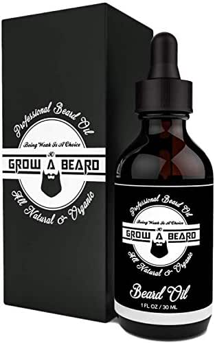 Beard Oil 1oz, Unscented Organic Argan & Jojoba, Add Shine & Style in Your Beard, Smooth Shape and Moisturize, Relieves Itching for Strong & Healthy Beard, Vegan Friendly for All Beards