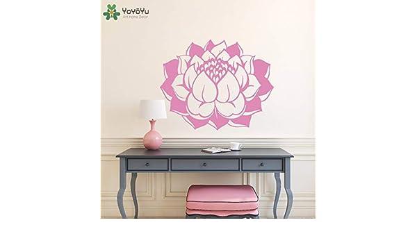 BailongXiao Aerobic telecontrol Studio diseño Moderno decoración del hogar Vinilo Arte Etiqueta de la Pared extraíble Lotus Etiqueta de la Pared 79x63cm: Amazon.es: Hogar