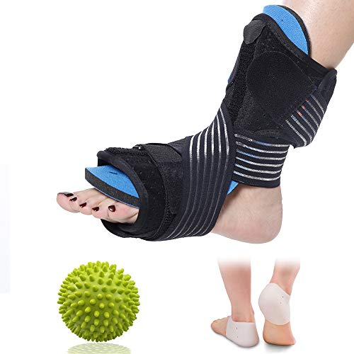 Plantar Fasciitis Night Stretching Splint Foot Drop for Sleep Support, C-TOP Comfortable Adjustable Splint Orthotic Brace for Relief from Plantar Fasciitis, Achilles Tendonitis, Ankle and Calf Pain