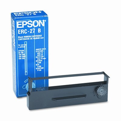 Genuine Epson ERC-27B-3 Black Ribbon Cartridge For POS Printers: TM-290/TM-U295 M-290 - Lot of 3 (Epson Ribbon Printer Ink)