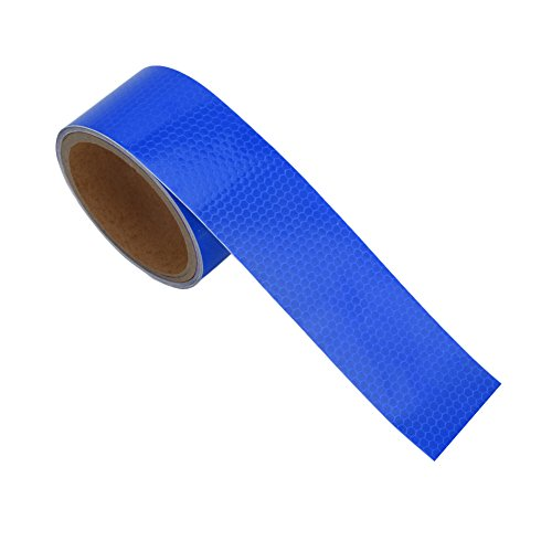 "Kangnice New 2""X10' 3M Reflective Safety Warning Conspicuity Tape Film Sticker Multicolor (Blue)"
