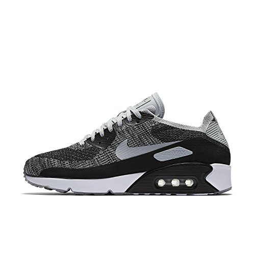 sneakers for cheap 1965e f774f Galleon - Nike Mens Air Max 90 Ultra 2.0 Flyknit Running Shoes Black Wolf  Grey Pure Platinum 875943-005 Size 13
