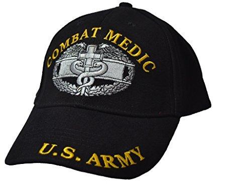 Eagle Emblems Mens Combat Medic Embroidered Ball Cap Adjustable Black